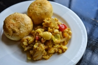 Fried Dumplings Ackee & Saltfish