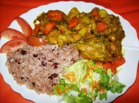 Curry Chicken & Rice & Peas