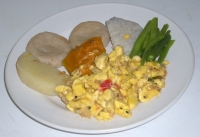 Boil Dumplings-Yams-with Ackee & Saltfish